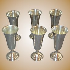 RANDAHL Sterling Silver Goblets - Set of SIX Cordials