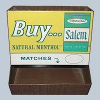 Salem Cigarette Tobacco Tin Store Display Advertising Match Holder
