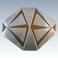 Heintz Sterling Overlay Arts & Crafts Pin Brooch