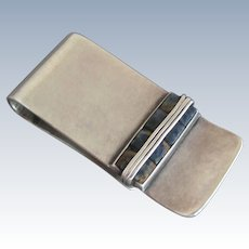 Antonio Pineda Sterling Silver Lapis Money Clip