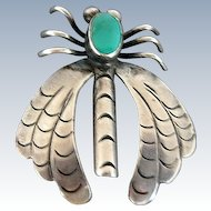 Native American Silver Turquoise Insect Bug Pin