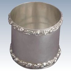Sterling Silver Vase or Holder with Bold Acorn and Oak Leaf Borders