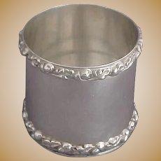 Sterling Silver Vase or Holder with Bold Acorn and Oak Leaf Borders