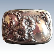 Art Nouveau Daisy Sterling silver Soap Dish Box