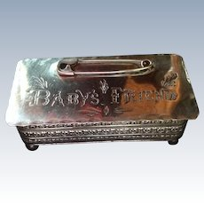 Baby's Friend Sterling silver Hinged Box