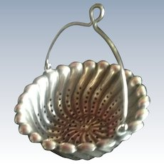 Large Sterling silver Tea Strainer Basket by Whiting