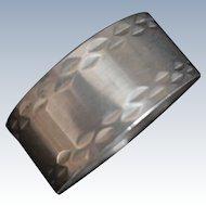 Diamond Pattern English sterling silver Napkin Ring Hallmarked Birmingham