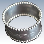 Beaded Sterling silver Napkin Ring by Towle