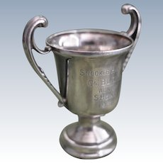 English 2 Handled Sterling silver Snooker Trophy 1938