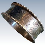English Edwardian Sterling silver Engraved Napkin Ring