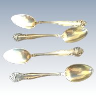 4 Stratford by International Sterling silver Demitasse Coffee Espresso Spoons