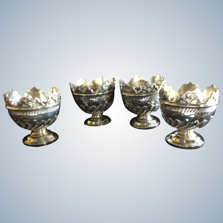 851dccc312ba 4 Victorian English Sterling silver Cherub Egg Cups : Hill Country  Galleries | Ruby Lane