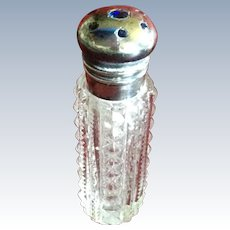Sterling silver Top Perfume with sapphire Blue Stones for Chatelaine