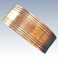 Sterling silver Napkin Ring Serviette Holder with linear design Unmonogrammed