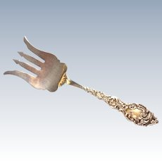 Passaic by Unger Bros Sterling silver Sardine Serving Fork Art Nouveau