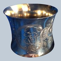 Gorgeous German 800 silver Napkin Ring Serviette Holder dated 1910