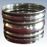 Sterling Silver Napkin Ring Serviette Holder Engraved Guy