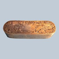 Art Nouveau Poppy Sterling Silver Trinket Box