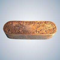 Art Nouveau Poppy Sterling Silver Trinket Box