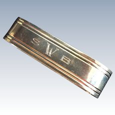 Elegant oval Sterling silver Napkin Ring Serviette Holder by Kirk