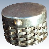 Mexican Sterling silver Woven Footed Hinged Box