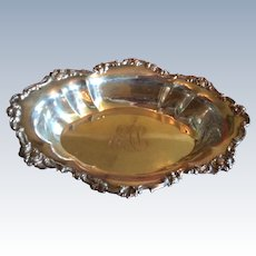 Ornate Sterling silver serving Bowl by Gorham date mark 1895