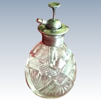 Sterling silver and Cut Crystal Perfume Bottle Atomizer