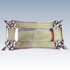 Fleur de Lis Sterling silver Dish or Tray by Wallace