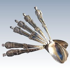 6 WWI Admiral and General figural  Spoons World War One