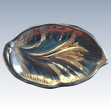 Sterling silver Leaf Shaped dish or Tray