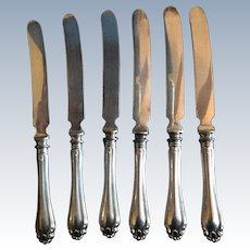 6 Century by Dominick and Haff sterling Silver Orange Knives