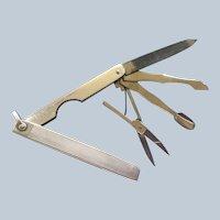 Elegant 800 Silver pocket knife for Fob or Chain