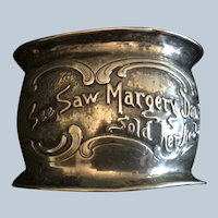 See Saw Margery Daw sterling silver Napkin Ring Serviette Holder