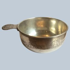 Gorham sterling silver Porringer or Baby Bowl with Dutch Kids and Boats