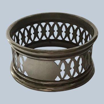 Gorham lattice Pierced sterling silver Napkin Ring Serviette Holder