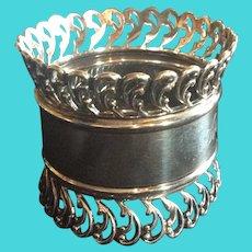 Ornate huge Sterling Silver Napkin Ring  serviette Holder
