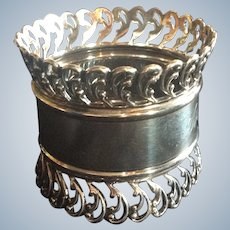 Ornate huge Sterling Silver Napkin Ring  serviette Holder