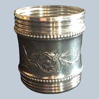 Huge Victorian aesthetic sterling silver Napkin Ring Serviette Holder 1884