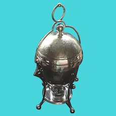 English silver Egg Coddler Elton 1886 Trophy by James Dixon & Sons