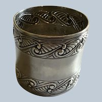 Sterling silver Napkin Ring Serviette Holder by Gorham with Wave Design