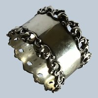 Sterling Silver Napkin Ring Serviette Holder by Towle with fancy pierced edges