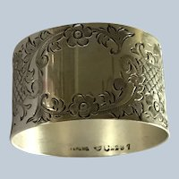 Sterling silver Napkin Ring Serviette Holder aesthetic engraved