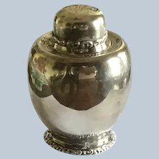 Elegant sterling silver Tea Caddy by Simpson Hall and Miller