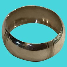 Elegant simple Mexican sterling silver Napkin Ring Serviette Holder