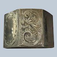 Octagonal English Sterling silver Napkin Ring 1953 Birmingham