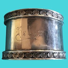 Lily Pad sterling silver Napkin Ring Serviette Holder by Towle for Helen