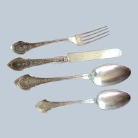 Angelo by Wood and Hughes all Sterling silver 4 Piece Set