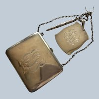 Sterling silver Dance Card and Purse Chatelaine by Blackinton