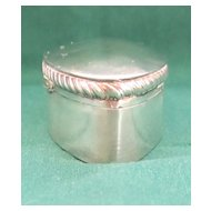 Lovely Antique English Sterling Silver Box - 1902