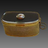 Fabulous Vintage Metal and Glass Handbag - France